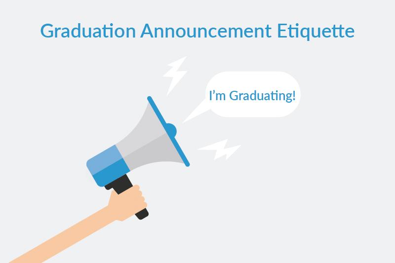graduation announcement etiquette