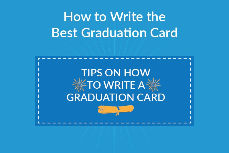 how to write the best graduation card