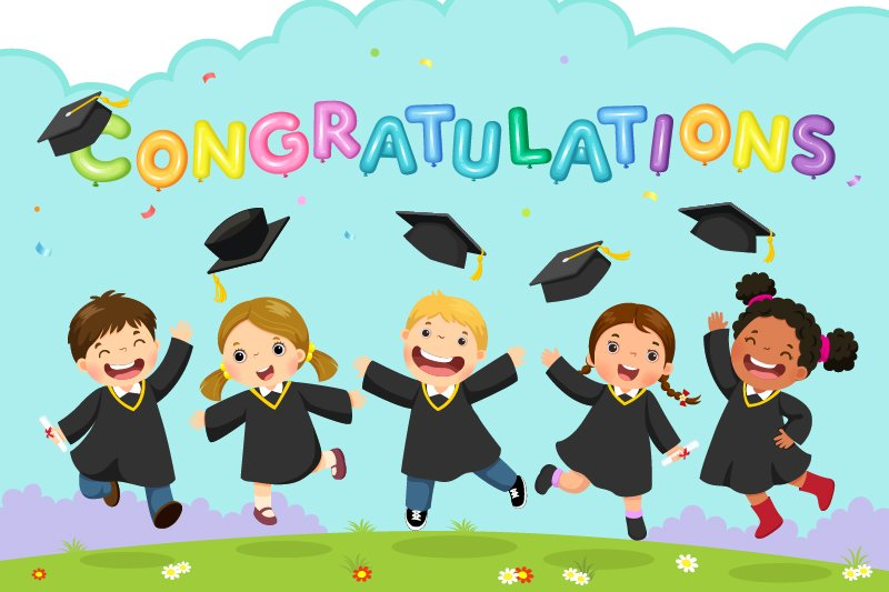 congratulations cartoon characters graduating