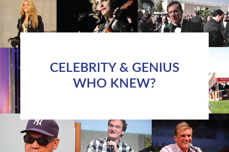 celebrity and genius who knew