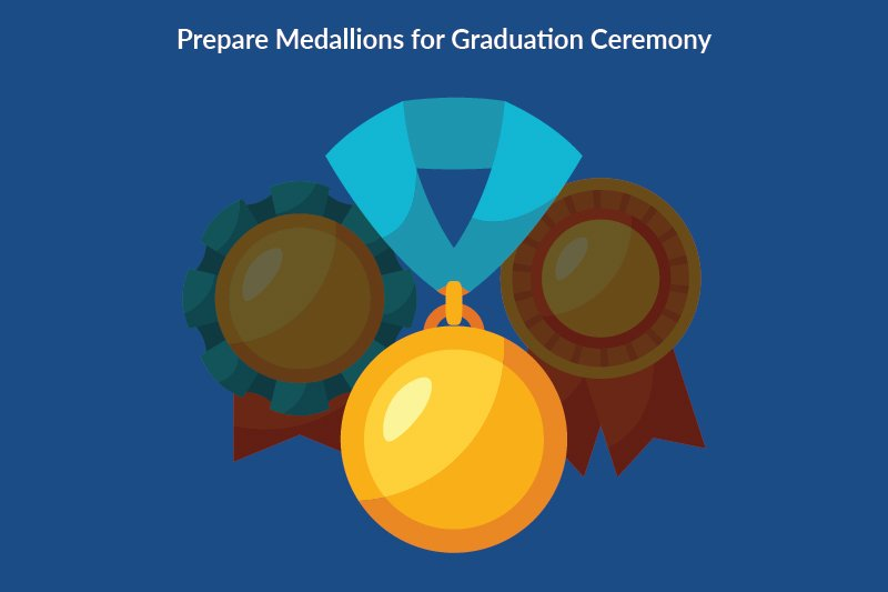 steps organizing final graduation details 3