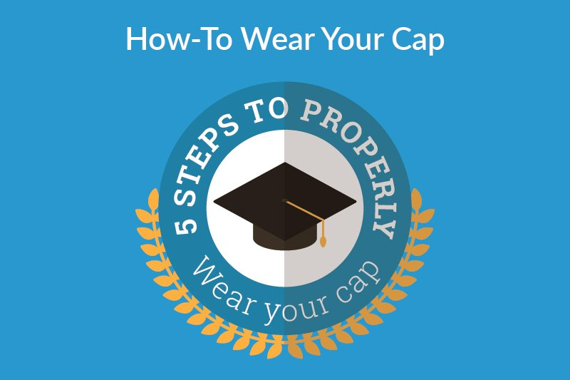 """5 steps to properly wear your graduation cap"""" graphic"""