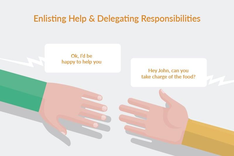 enlisting help and delegating