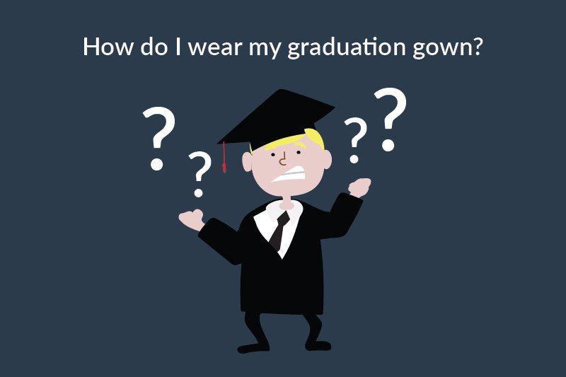 How-To Wear Your Gown: Graduation Gown Instructions -