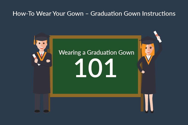 how to wear your graduation gown