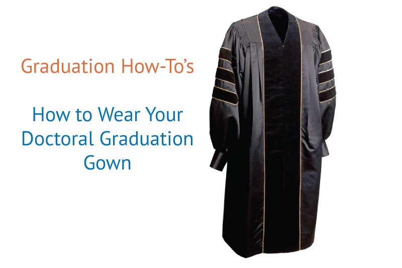 how to wear graduation gown