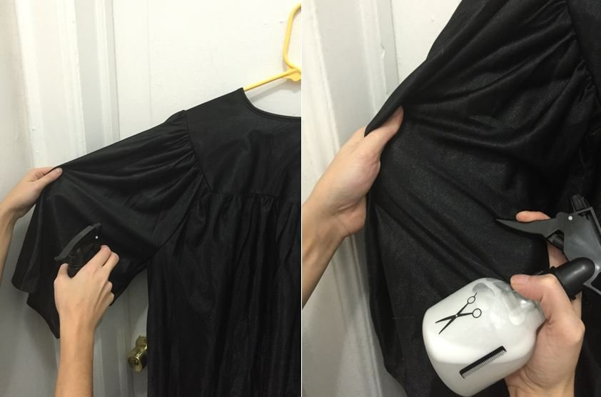 Graduation Gown Wrinkle Removal 11