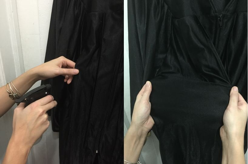 Graduation Gown Wrinkle Removal 10