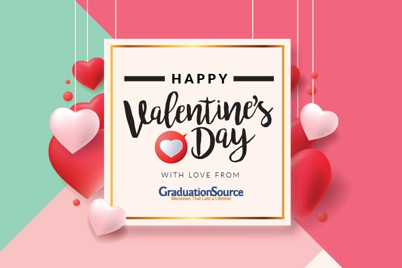 """""""happy valentines day from graduationsource"""" graphic"""