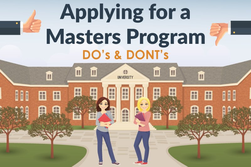 applying for master's do and don't