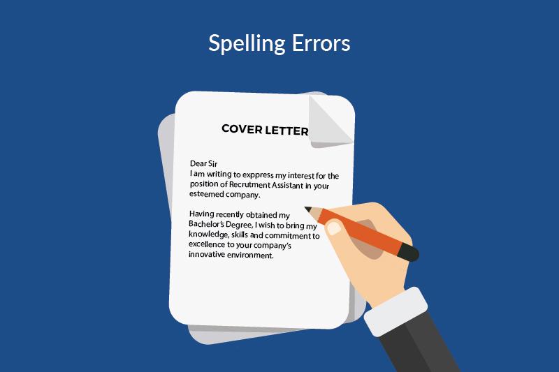 job search mistakes - spelling errors