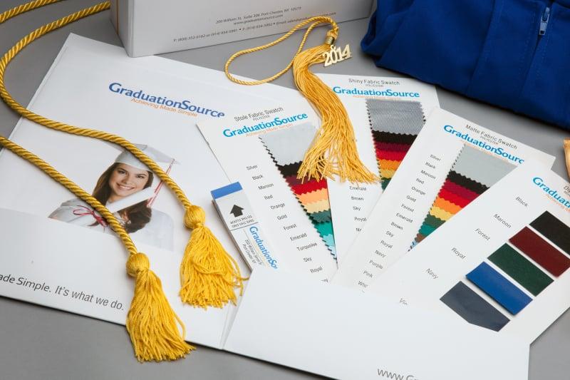 free graduation gown sample kit