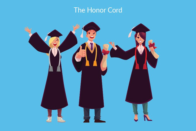 Graduation Honors - Illustrated Cord - Full Width