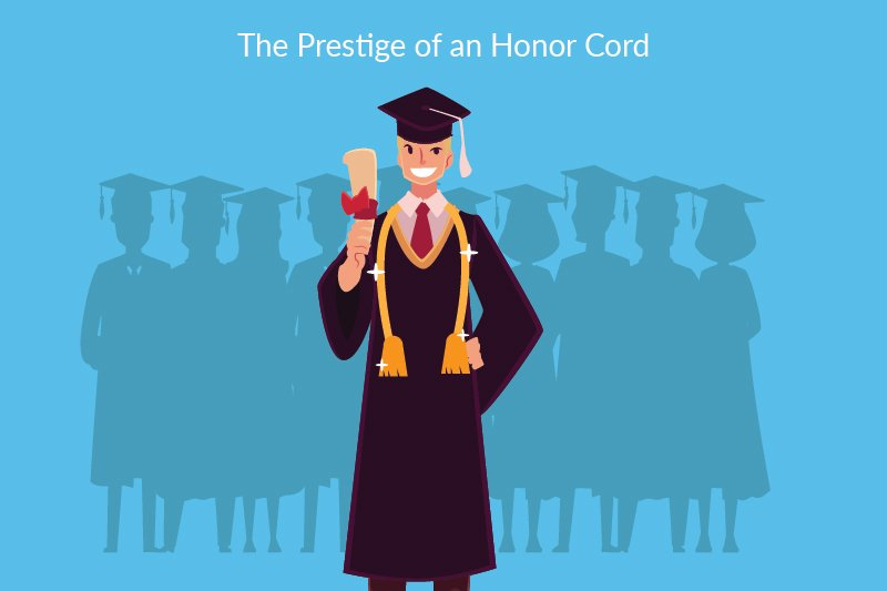 Graduation Honors - Graduation Honor on Student on Pedestal above others
