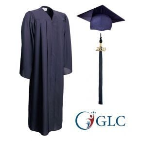 Gorman Learning Center - Navy - Matte Graduation Cap, Gown & Tassel