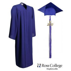 Ross College Hopkinsville - Royal Blue - Graduation Cap, Gown & Tassel
