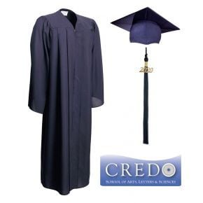 Credo High School Graduation, Cap Gown & Tassel