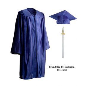Friendship Presbyterian Preschool - Royal Blue Cap, Gown & Tassel