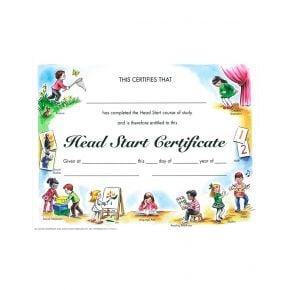 Head Start Certificate