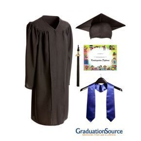 Demo Academy Child Cap, Gown, Tassel, Stole & Diploma Cover