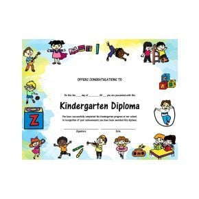 Kindergarten Diploma - Version 2
