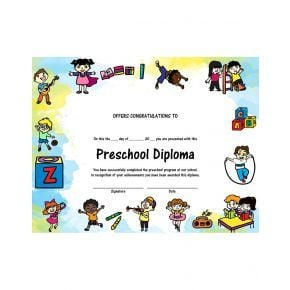 Preschool Diploma - Version 2