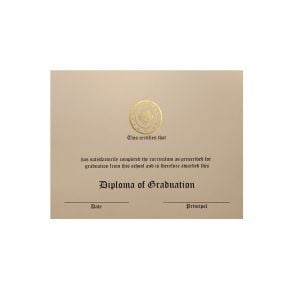 Gold Foiled Ivory Stock Diplomas