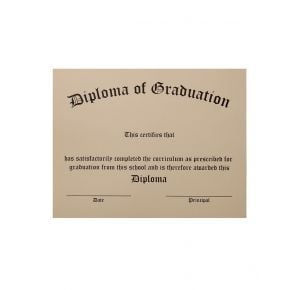Thermographed Ivory Stock Diplomas - Pack of 5
