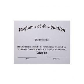 Thermographed White Stock Diploma
