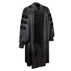 Deluxe Doctoral Gown With Black Piping
