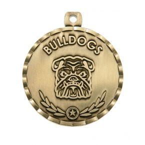 Bulldog Mascot Medal