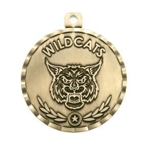 Wildcat Mascot Medal