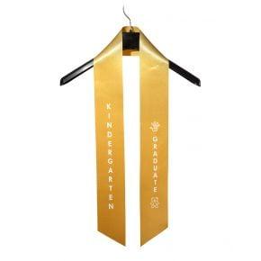 Child Kindergarten Imprinted Gold Sash