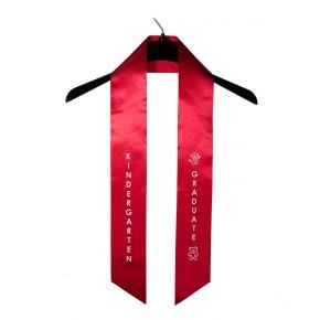 Child Kindergarten Imprinted Red Sash