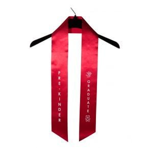 Child Pre-Kindergarten Imprinted Red Sash