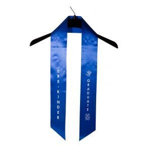 Child Pre-Kindergarten Imprinted Royal Sash