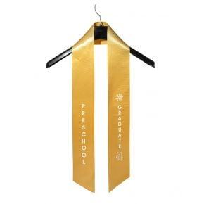 Child Preschool Imprinted Gold Sash