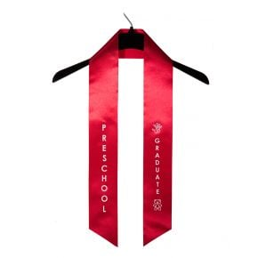 Child Preschool Imprinted Red Sash