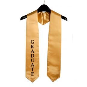 Imprinted Gold Graduate Stole