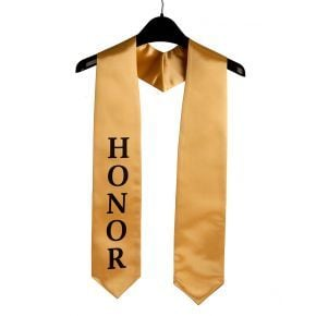 Imprinted Gold Honor Stole
