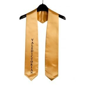 Imprinted Gold Valedictorian Stole