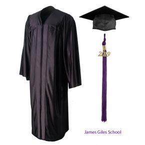 James Giles School Graduation Cap, Gown & Tassel