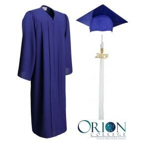 Orion College Graduation Cap, Gown and Tassel