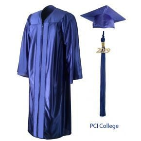 PCI College - Graduation Cap, Gown & Tassel