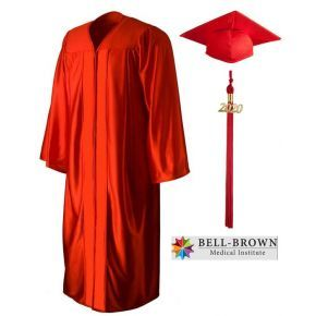 Bell-Brown Medical Institute - Phlebotomy Technician - Cap, Gown & Tassel