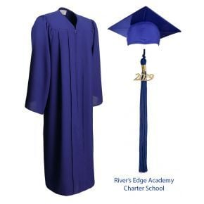 Rivers Edge Academy Charter School Graduation Cap, Gown & Tassel