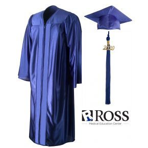 Ross Medical Education - Johnson City- Royal Blue Cap, Gown & Tassel