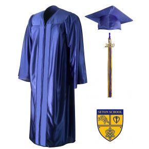 Seton School Royal Blue Cap, Gown & Tassel