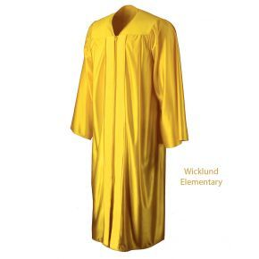 Wicklund Elementary Shiny Gold Graduation Gown