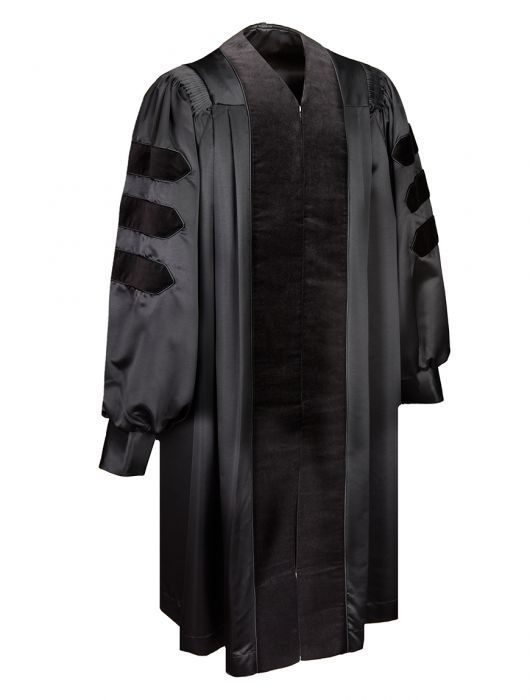 e91b07c3538 Deluxe Doctoral Gown With Black Piping